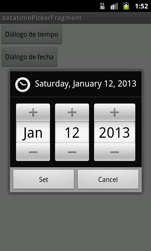 DateTimePicker supportv4 Android